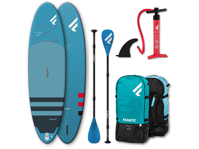 """Fanatic Fly Air Premium/Pure SUP Package 10'8"""" Inflatable Sup with Paddles and Pump"""